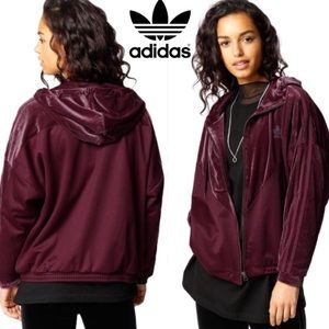 Adidas Originals Velvet Vibes Hooded Jacket XS